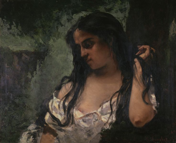 Courbet Gypsy in Reflection