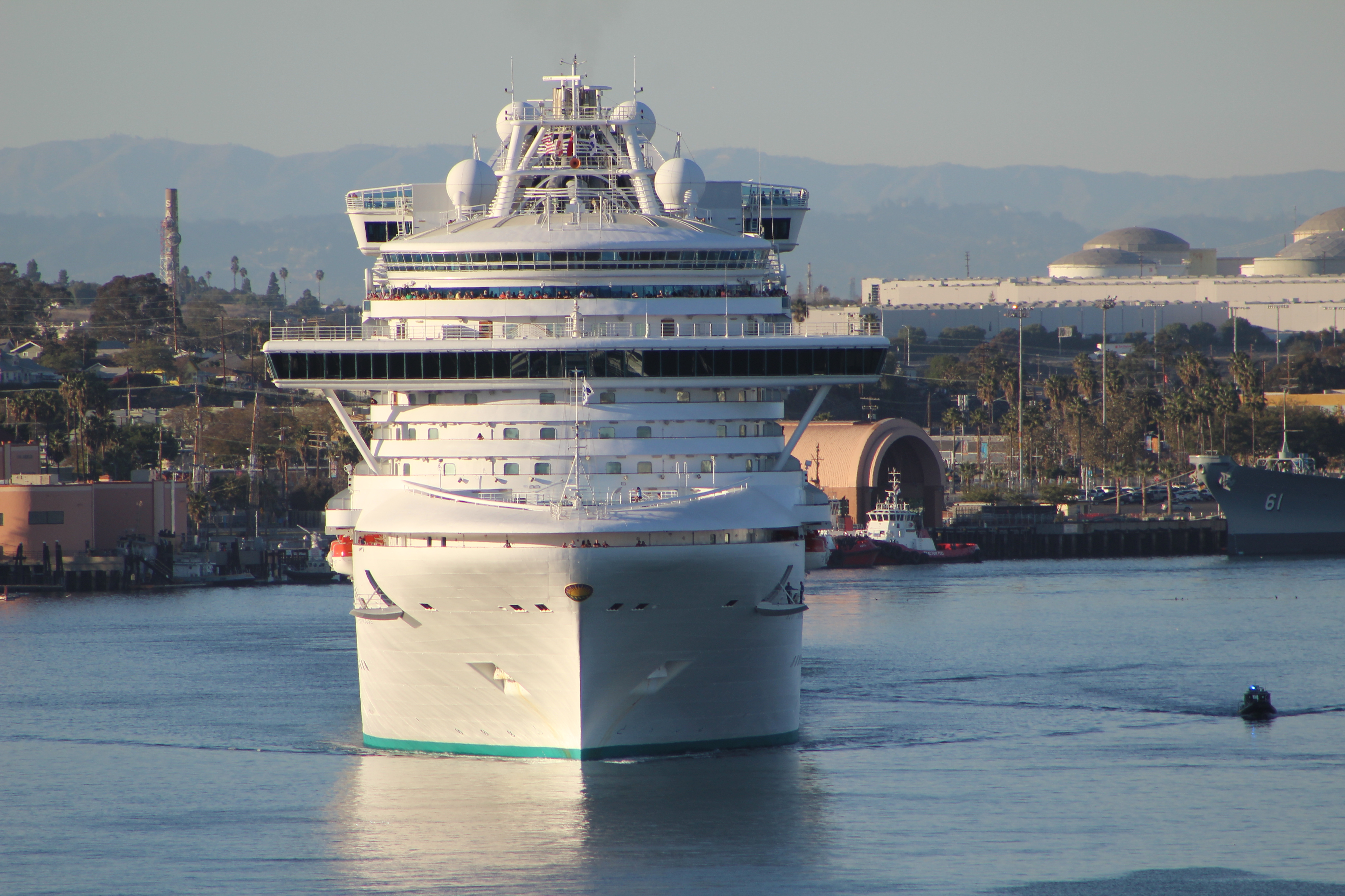 FileCruise Ship Departing Port Of Los Angeles Panoramiojpg - Cruise ships los angeles