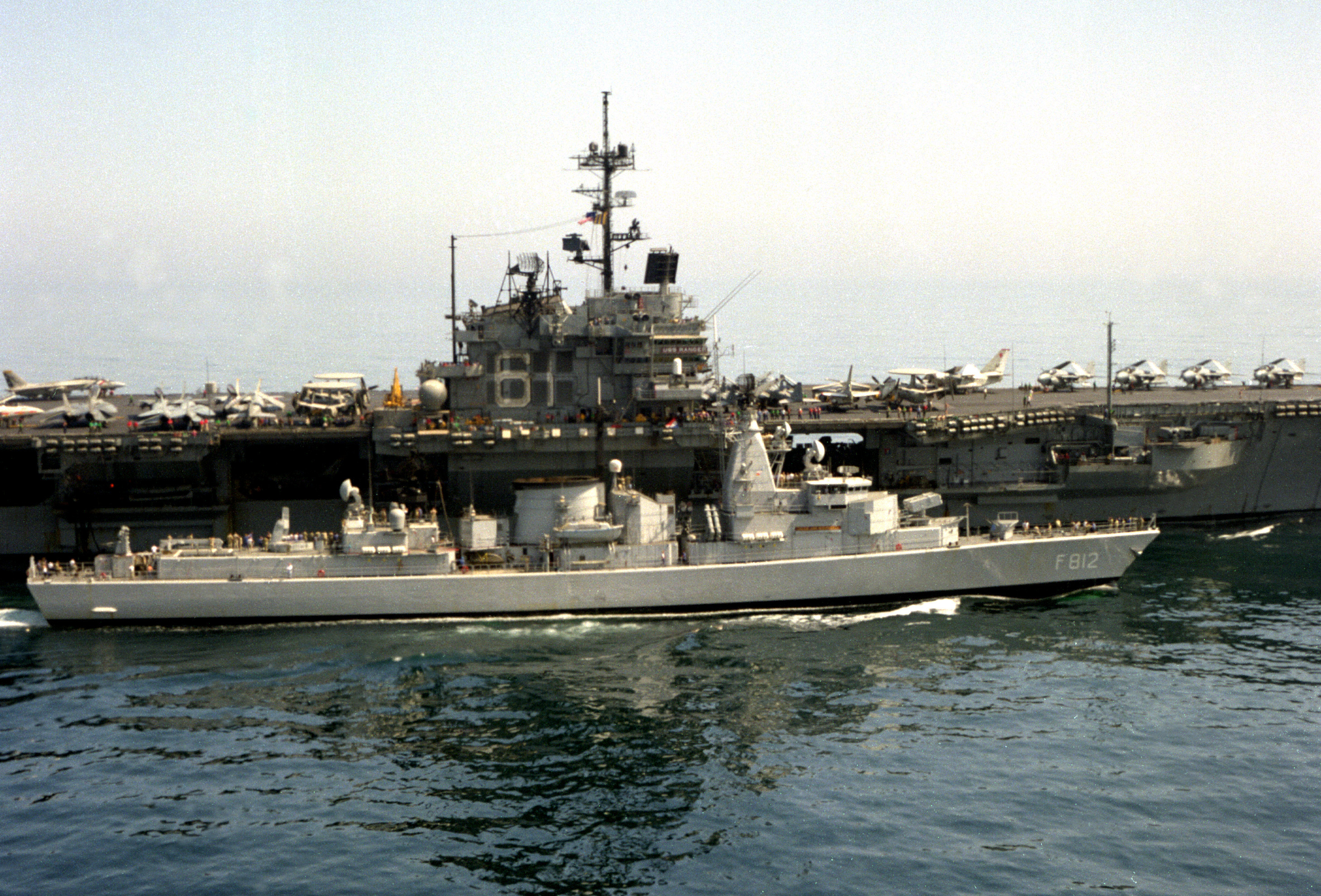 file dutch frigate f812 jacob van heemskerck operates alongside the aircraft carrier uss ranger
