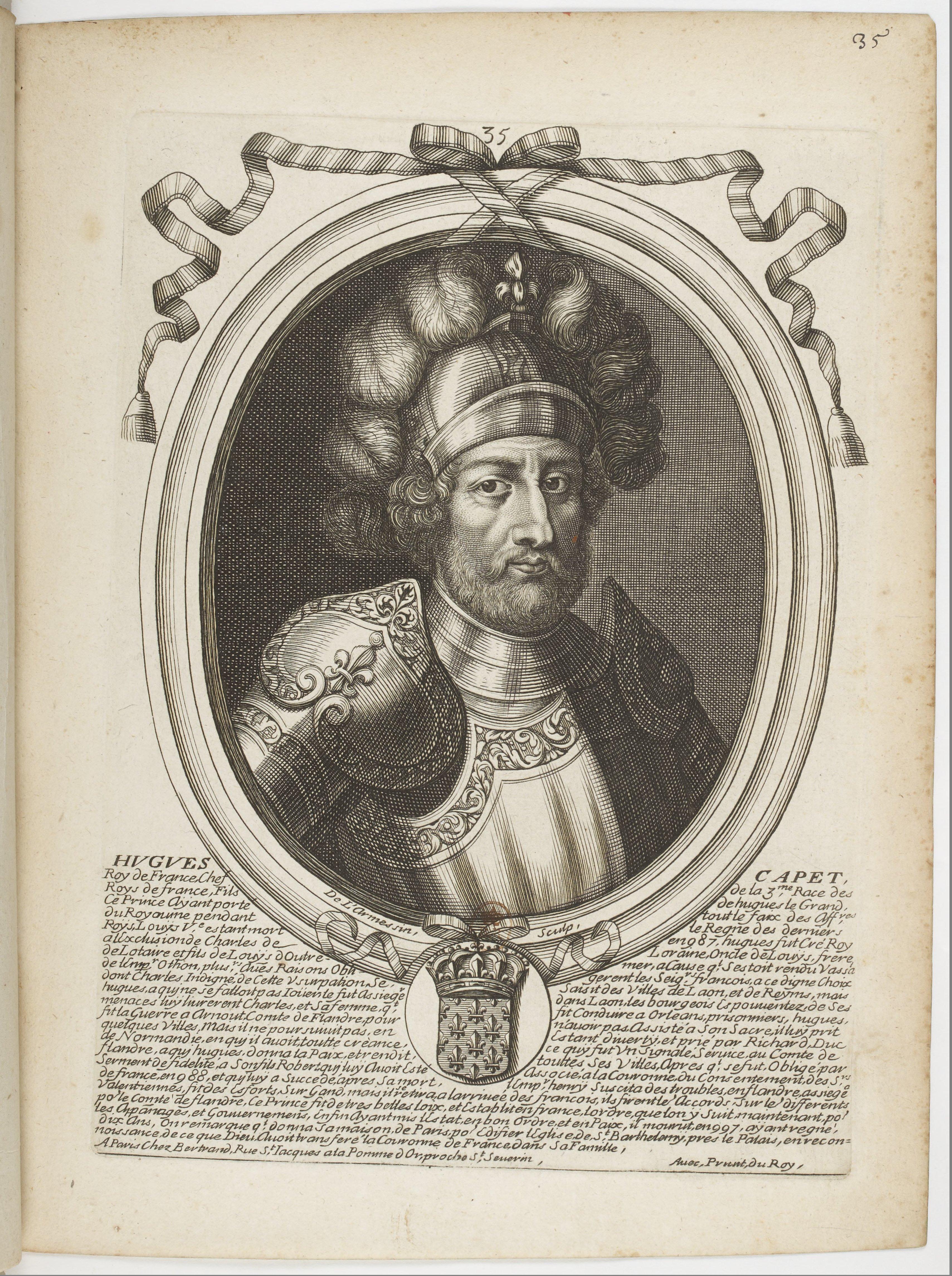 Estampes par Nicolas de Larmessin.f044.Hugues Capet, roi de France
