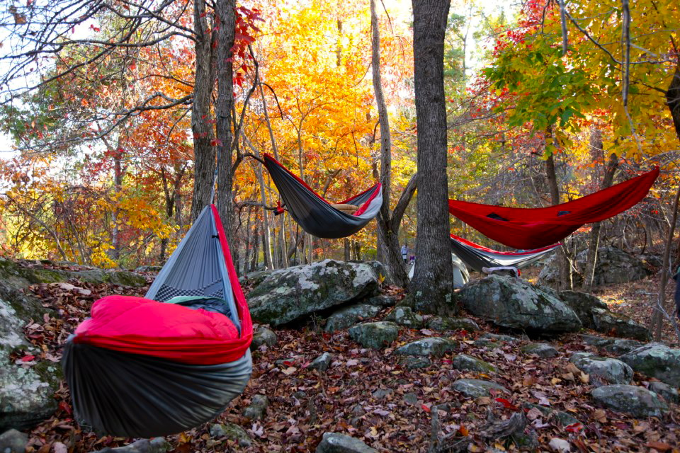 Basic Camping Hammock Setup 1