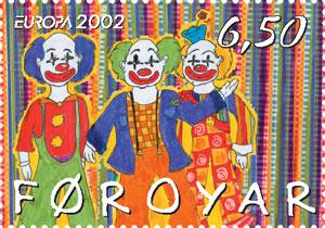 Faroe stamp 415 clowns.jpg