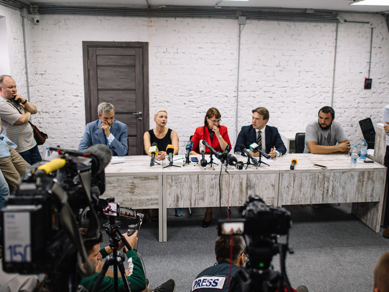 First press conference of the Coordination Council of Belarus