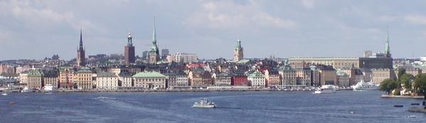 Panoramabillede af Gamla stan set fra havnen