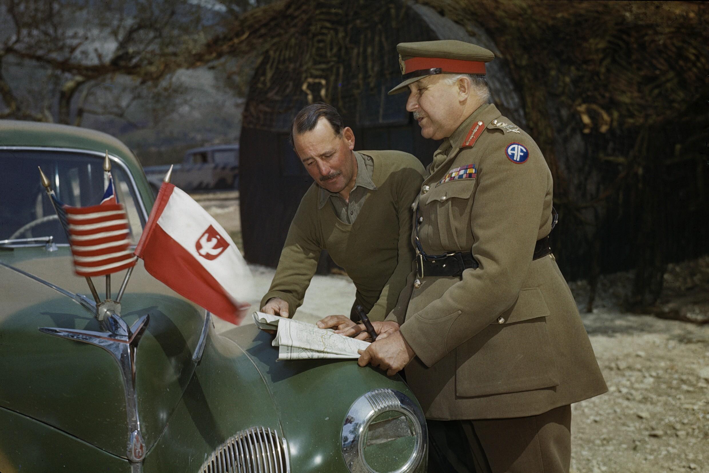 General Sir Henry Maitland Wilson with Lt General Sir Oliver Leese