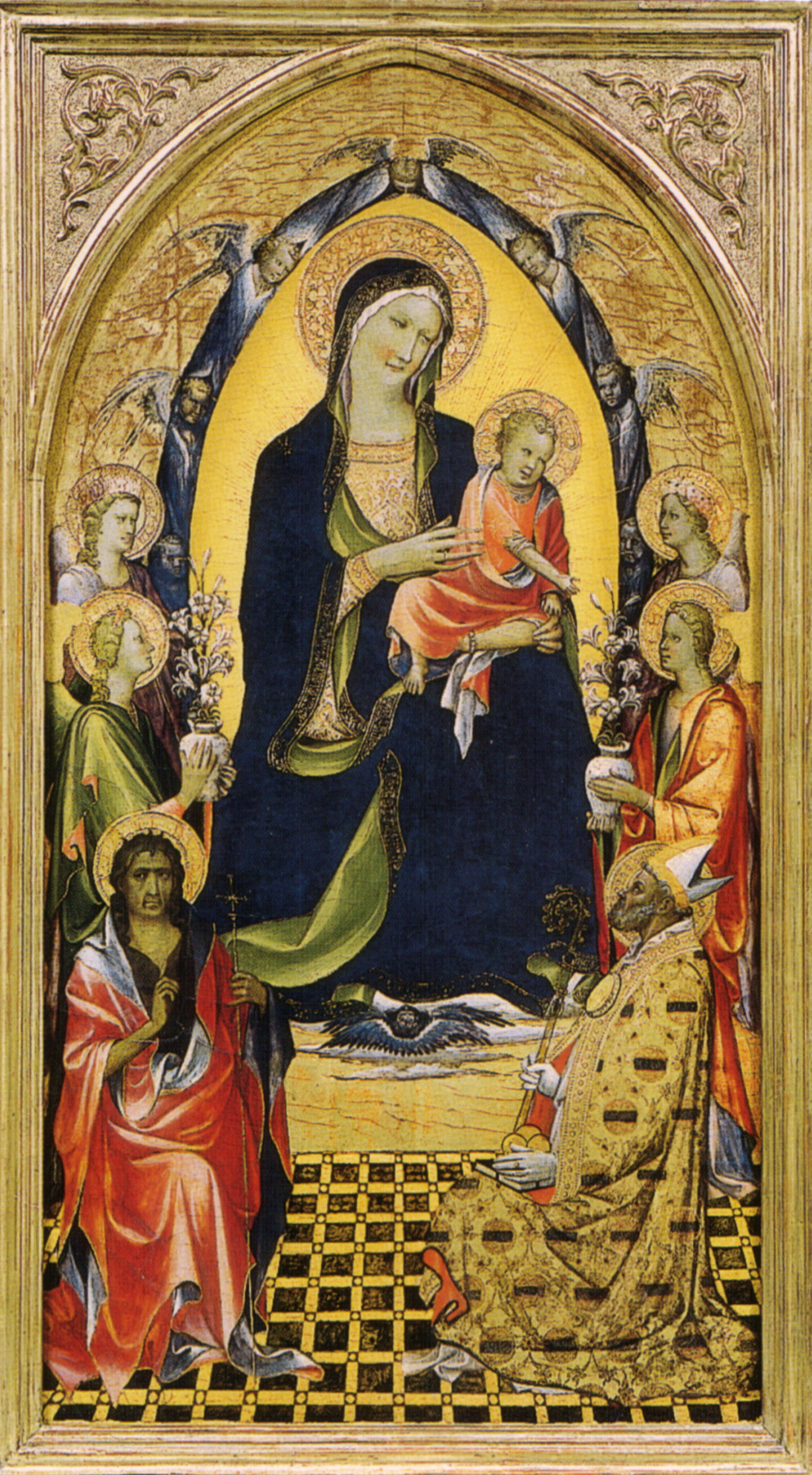 Gherardo starnina, madonna col Bambino e santi.jpg