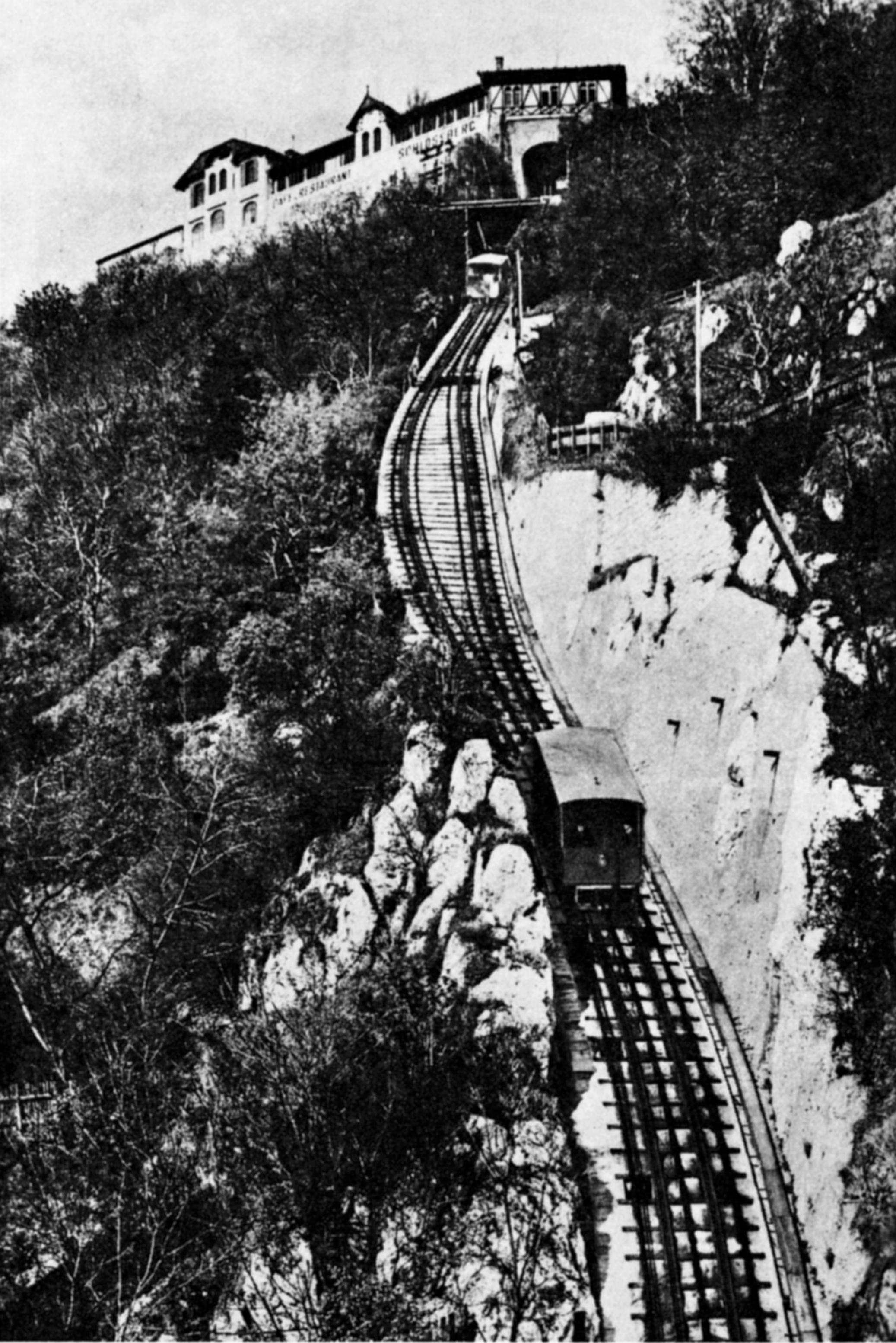 Grazer Schloßbergbahn um 1905