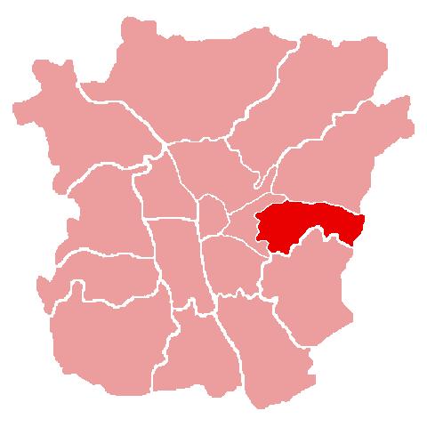 Lage des Bezirks Waltendorf