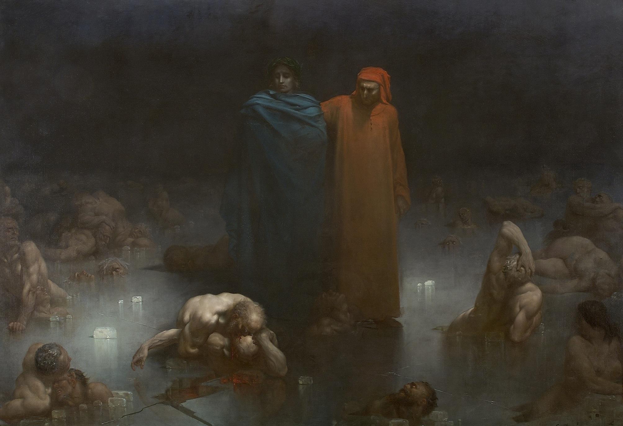 Fichier Gustave Dore Dante Et Virgile Dans Le Neuvieme Cercle De L Enfer Jpg Wikipedia