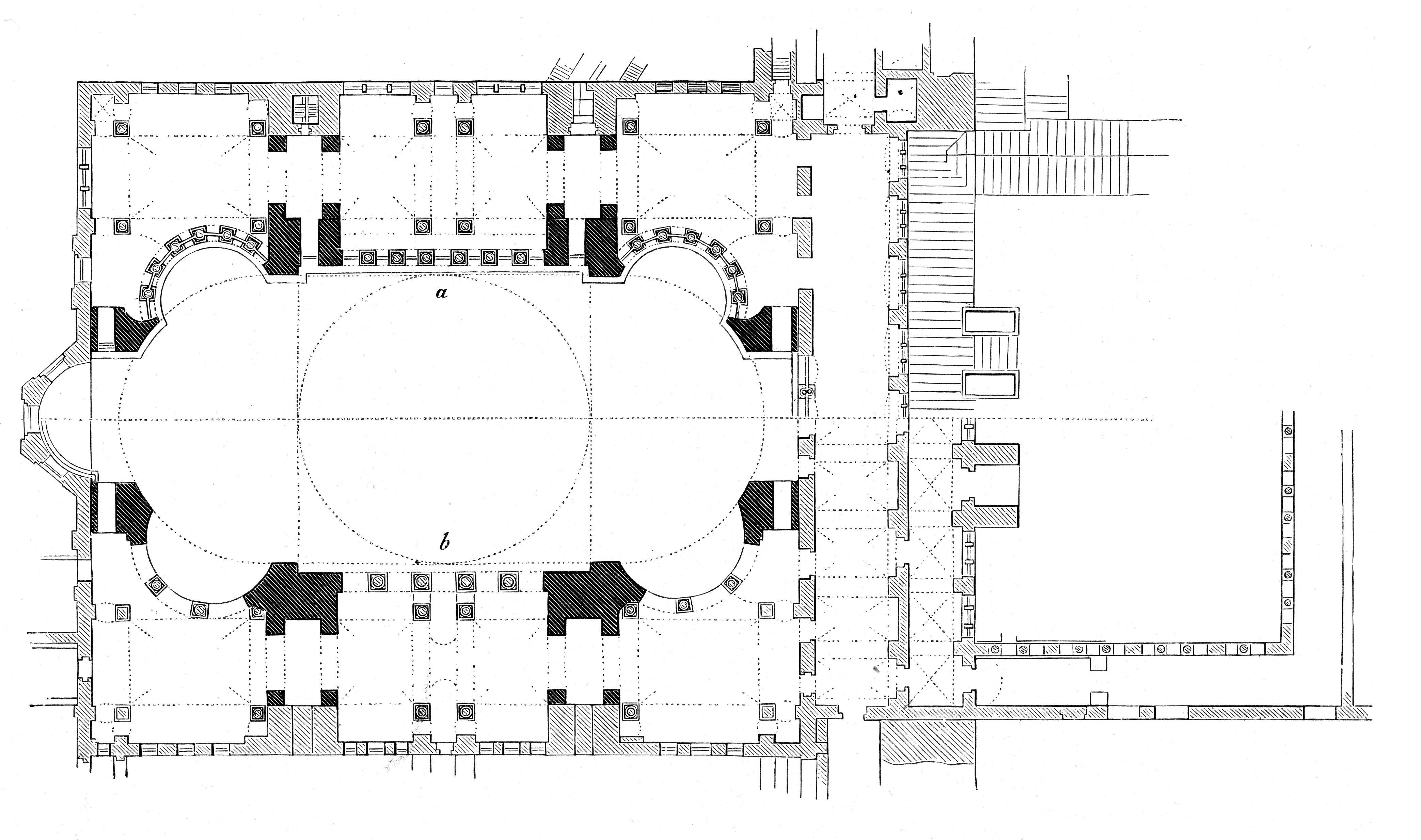 Groundplan of the Hagia Sophia