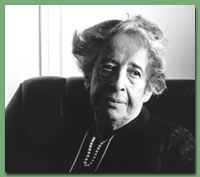 Photo of Hannah Arendt in 1975