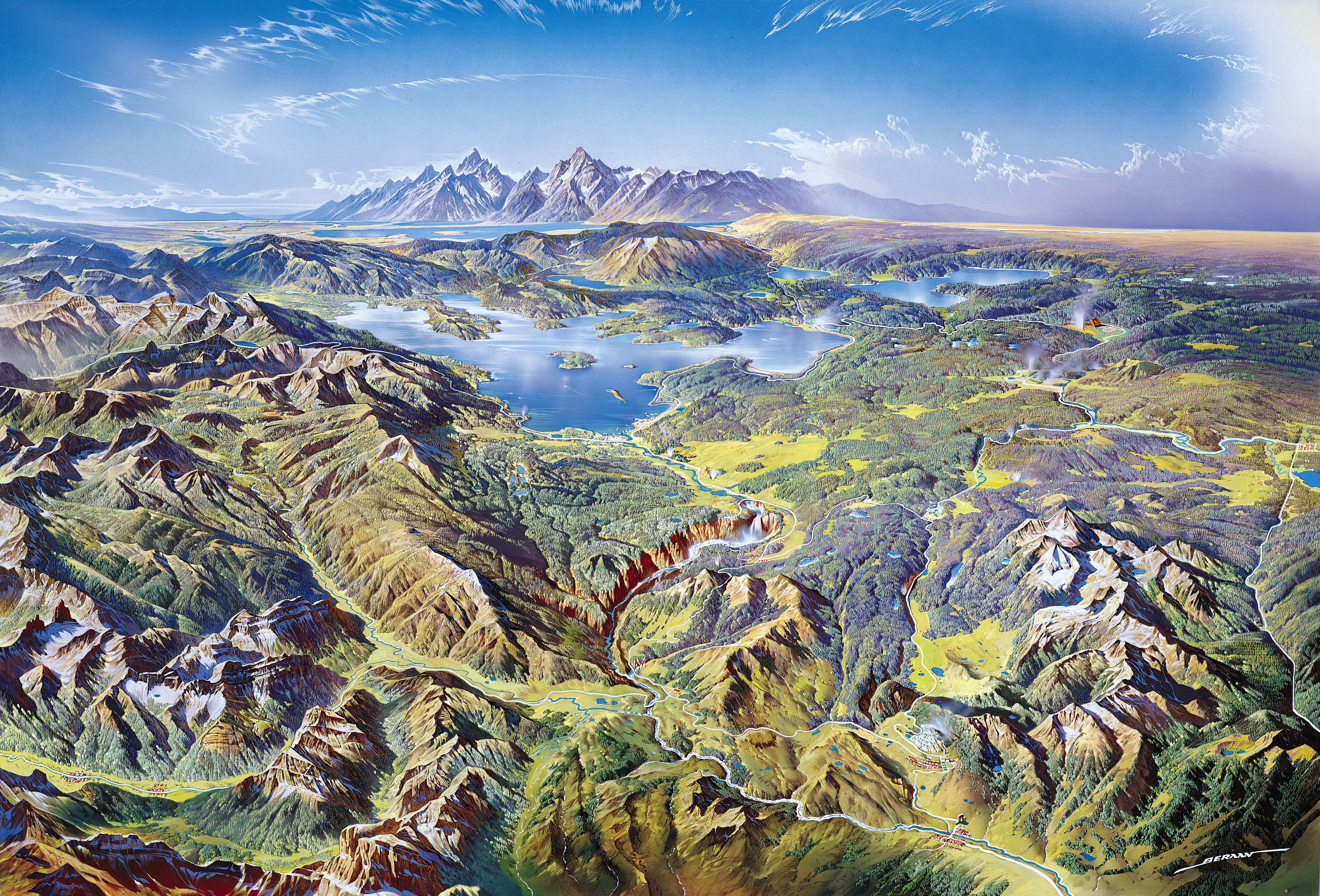 Yellowstone National Park Karte.File Heinrich Berann Nps Yellowstone Jpg Wikimedia Commons