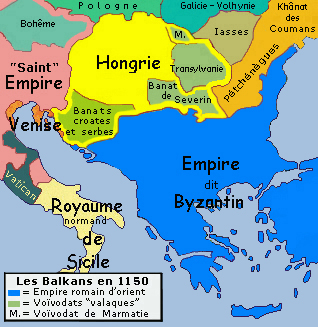 File:Historic map of Balkan peninsula around 1150 AD - French.jpg ...