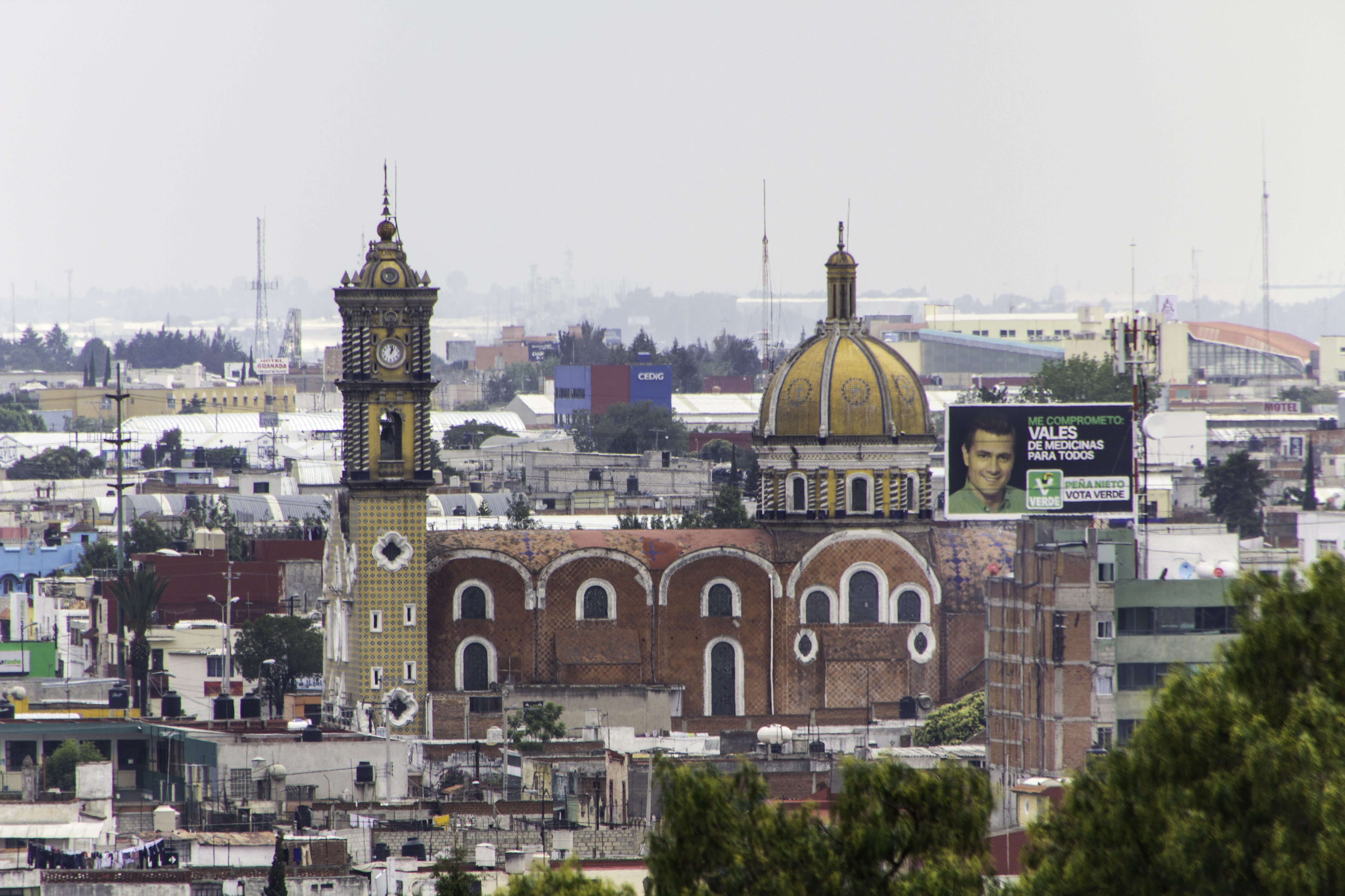 Vista de la iglesia de El Rayito, ubicada en la colonia Santa María de la ciudad de Puebla