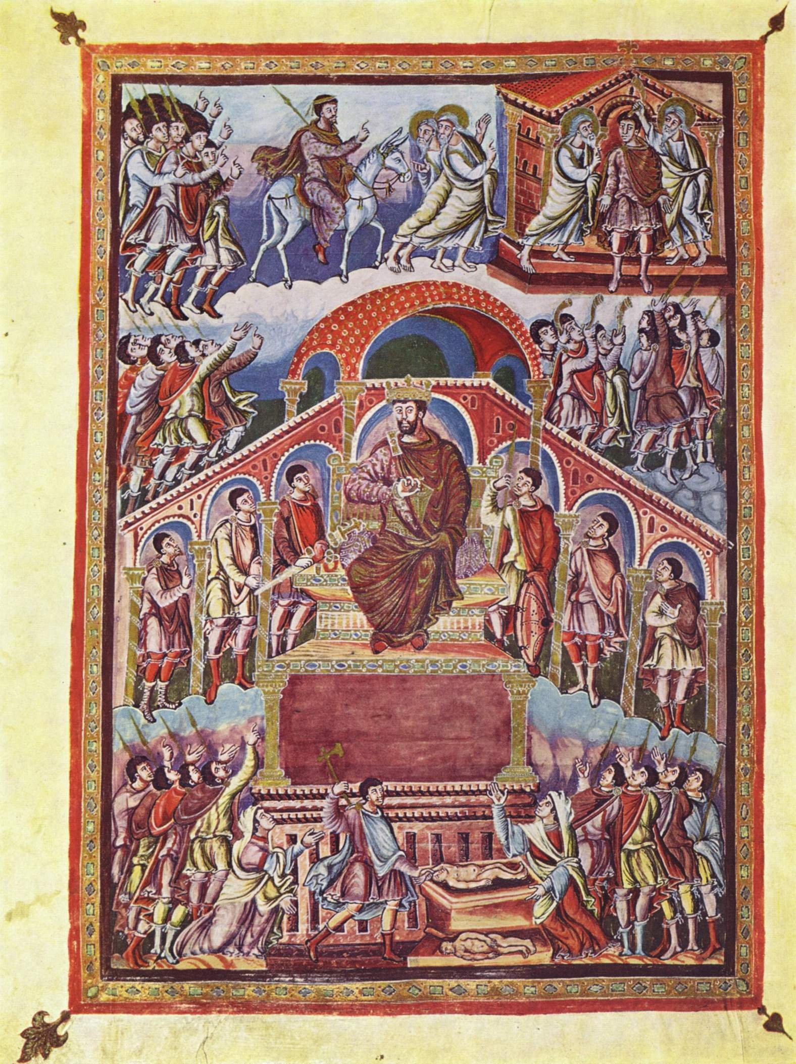 King Solomon's royal court.