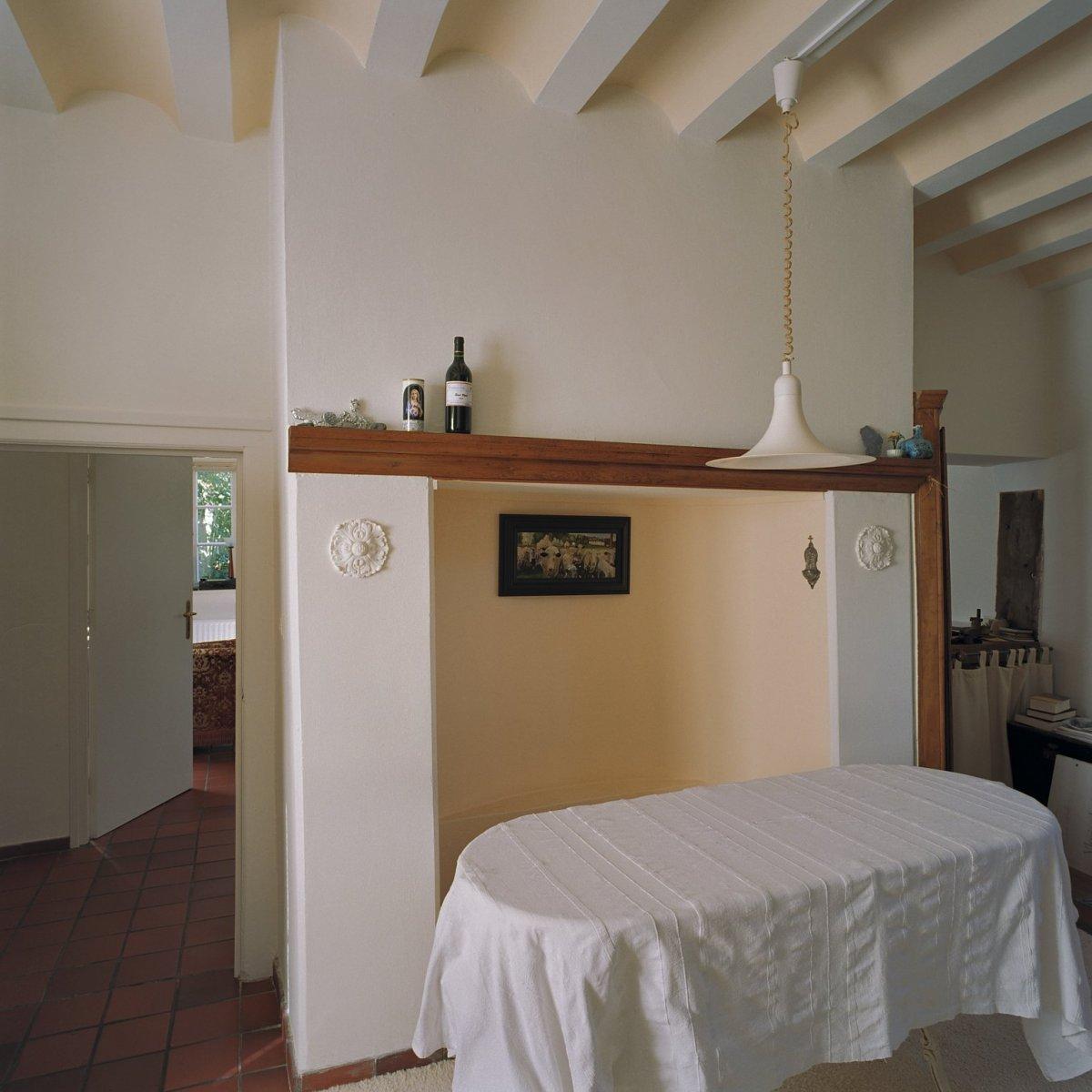 File interieur overzicht woonkamer met balken plafond for Interieur woonkamer
