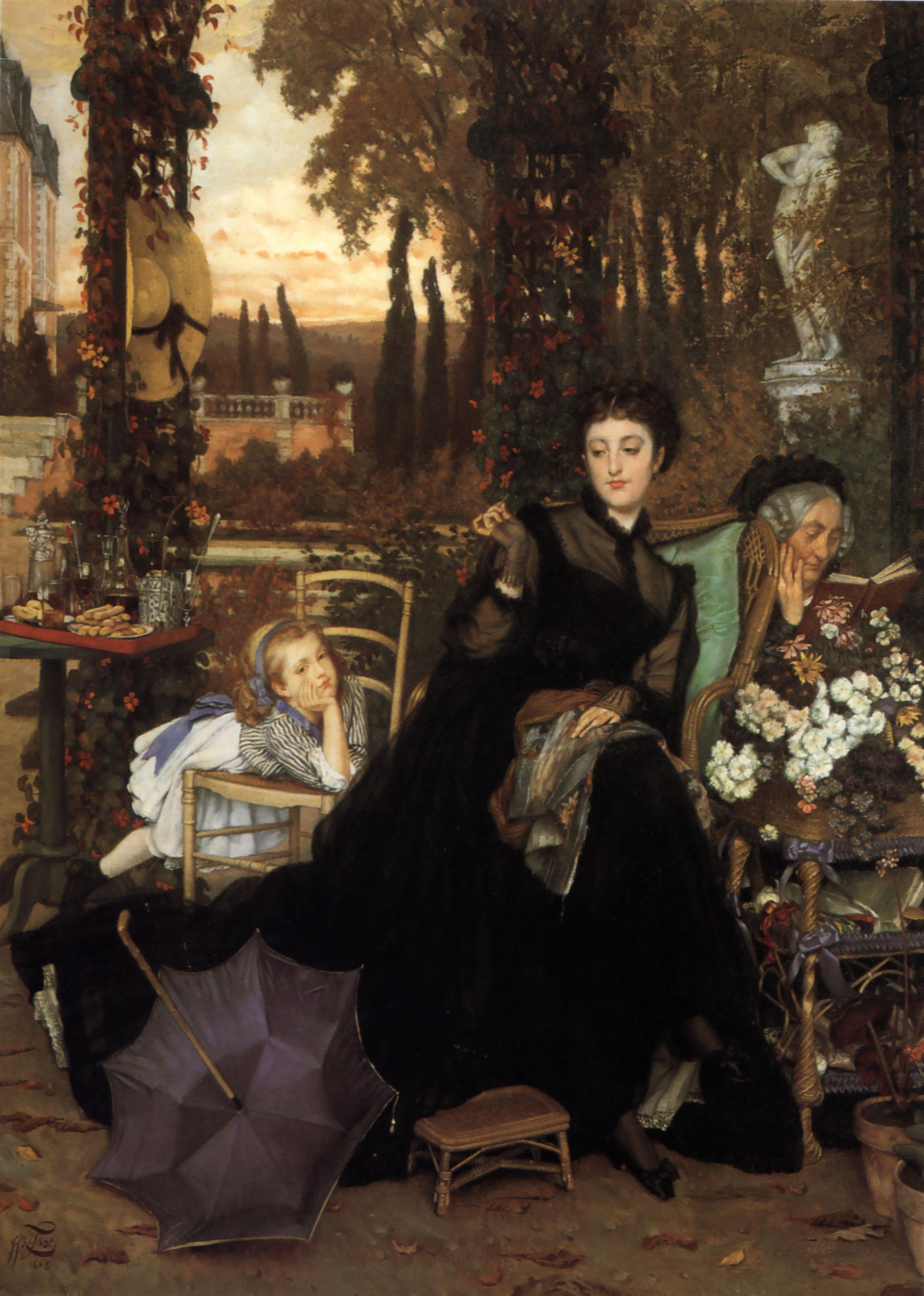 James Tissot - A Widow