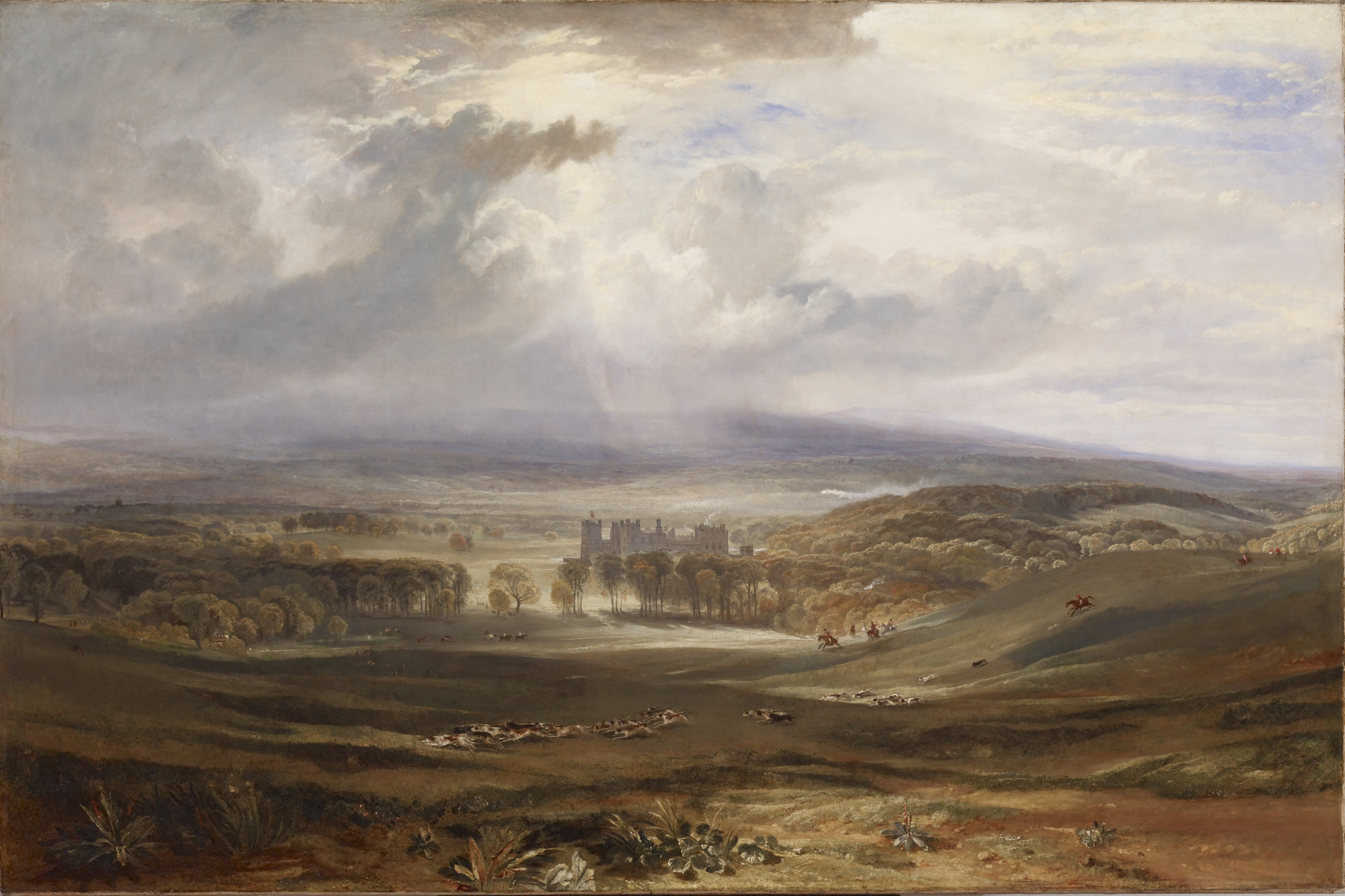 """Joseph Mallord William Turner – Raby Castle, the Seat of the Earl of Darlington – Walters 3741"""