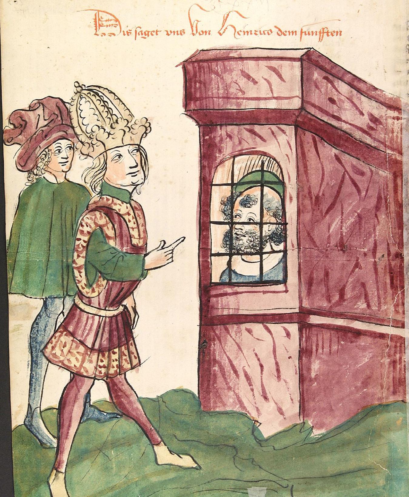 File:Kaiser Heinrich V. besucht seinen Vater im Gefängnis ...