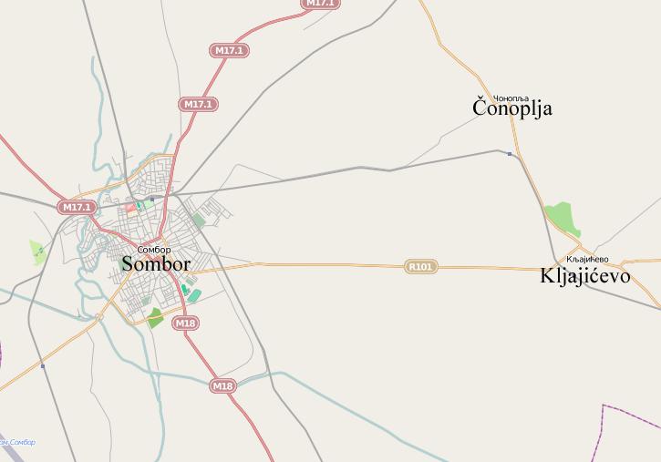 sombor mapa Kljajićevo   Wikipedia sombor mapa
