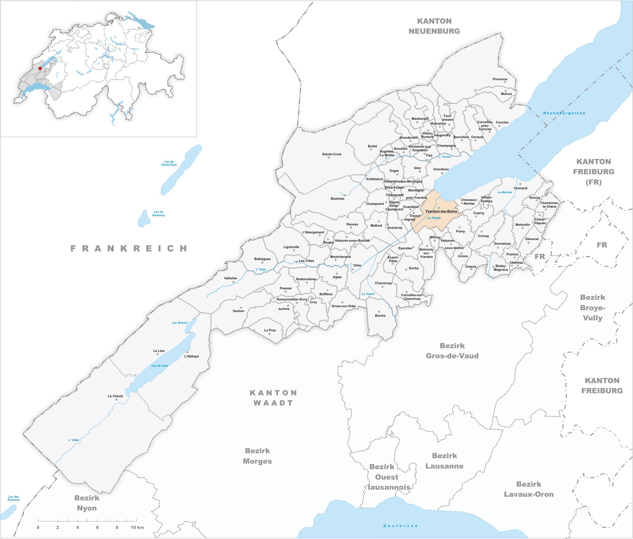 File karte gemeinde yverdon les bains wikimedia for Location yverdon les bains