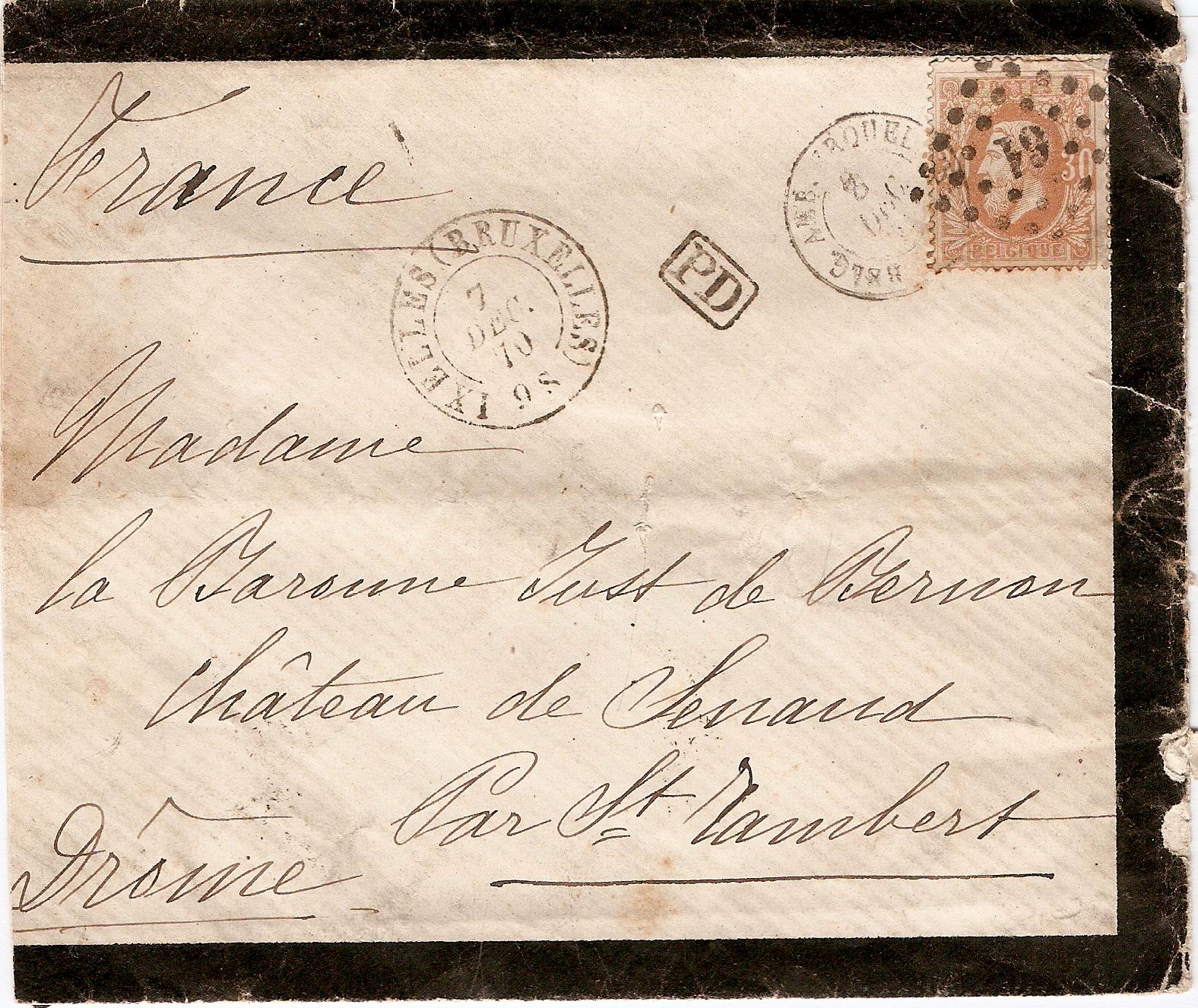 lettre belgique File:Lettre Belgique Ixelles 1870.png   Wikimedia Commons lettre belgique