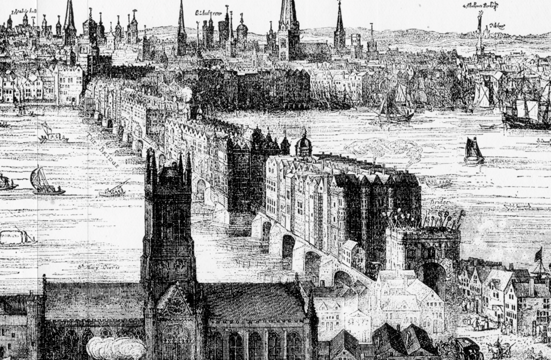 London Bridge (1616) by Claes Van Visscher
