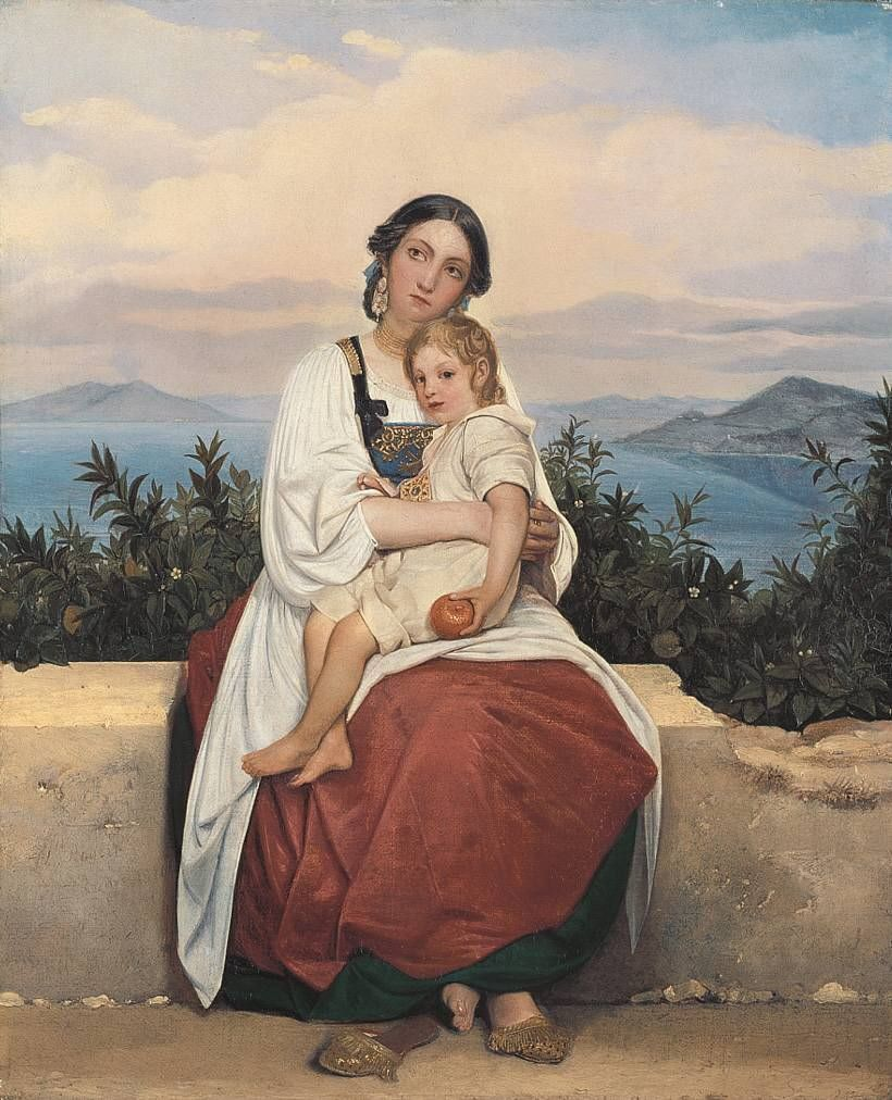 Woman of Procida with her child by Louis Leopold Robert