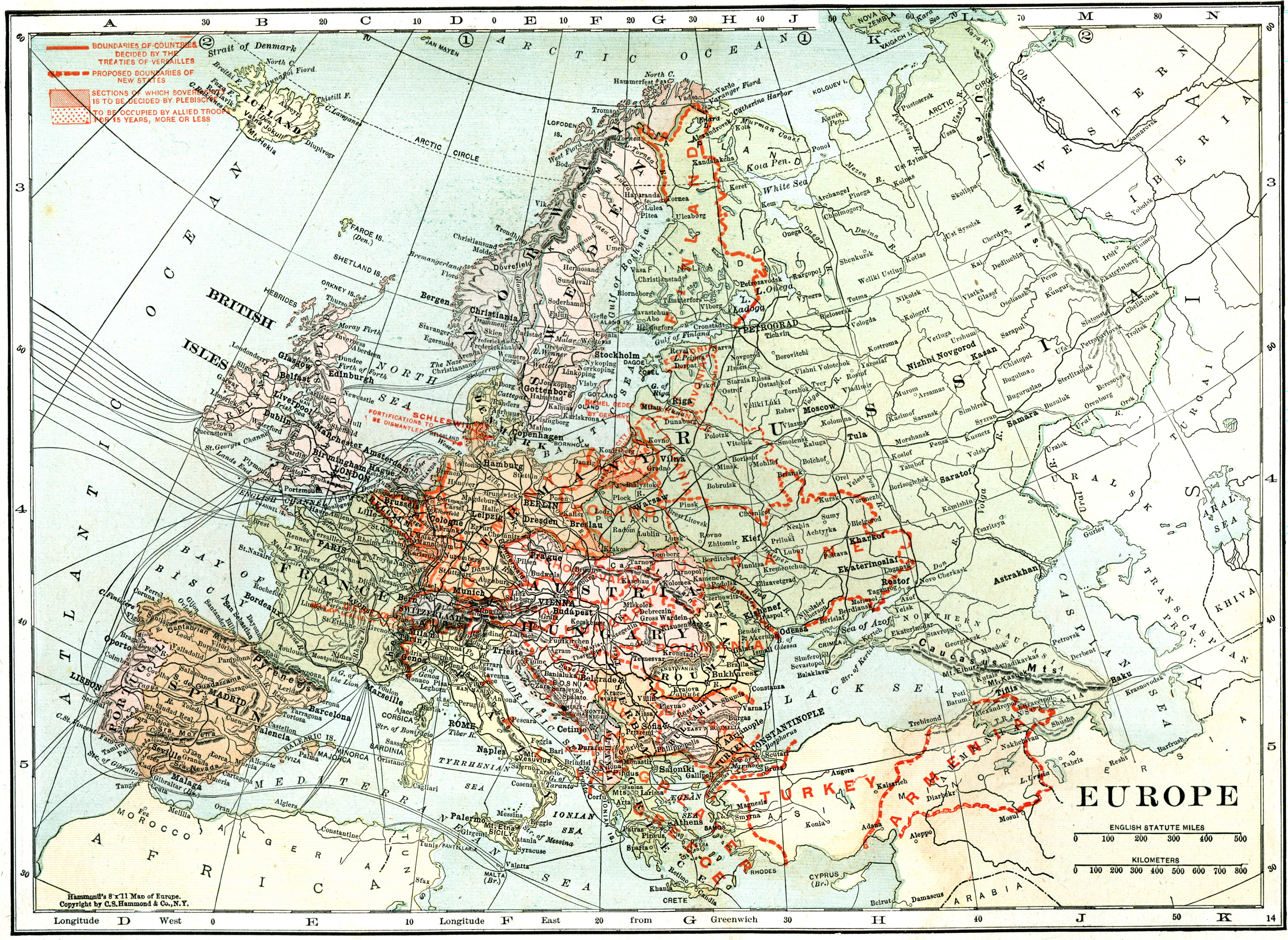 Paris On Europe Map.File Map Of Europe In 1920 After The Paris Peace Conference Jpg
