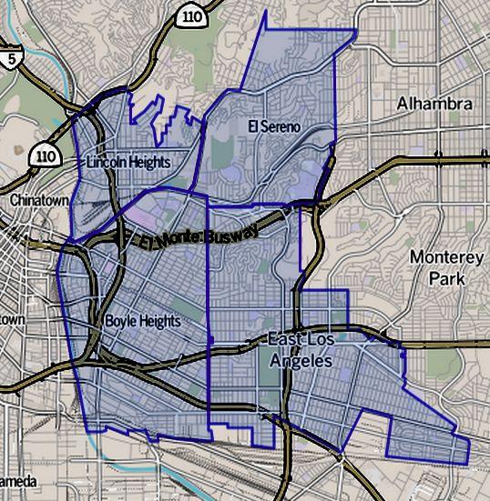 East Los Angeles Map Eastside Los Angeles   Wikipedia