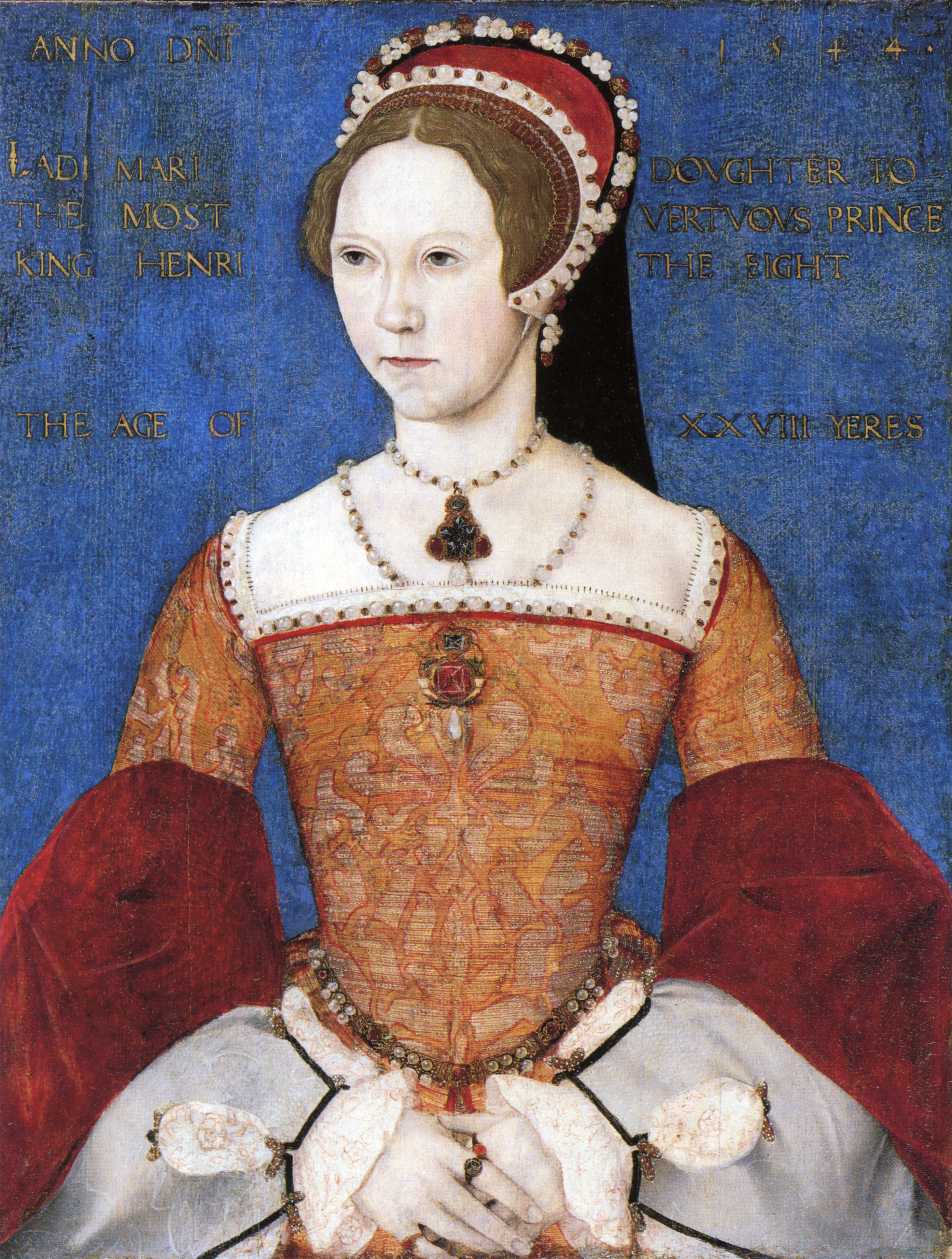 Mary, daughter of Henry and Catherine of Aragon, the future Queen Mary I.