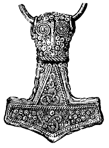 Mjölnir Hammer of the god Thor in Norse mythology