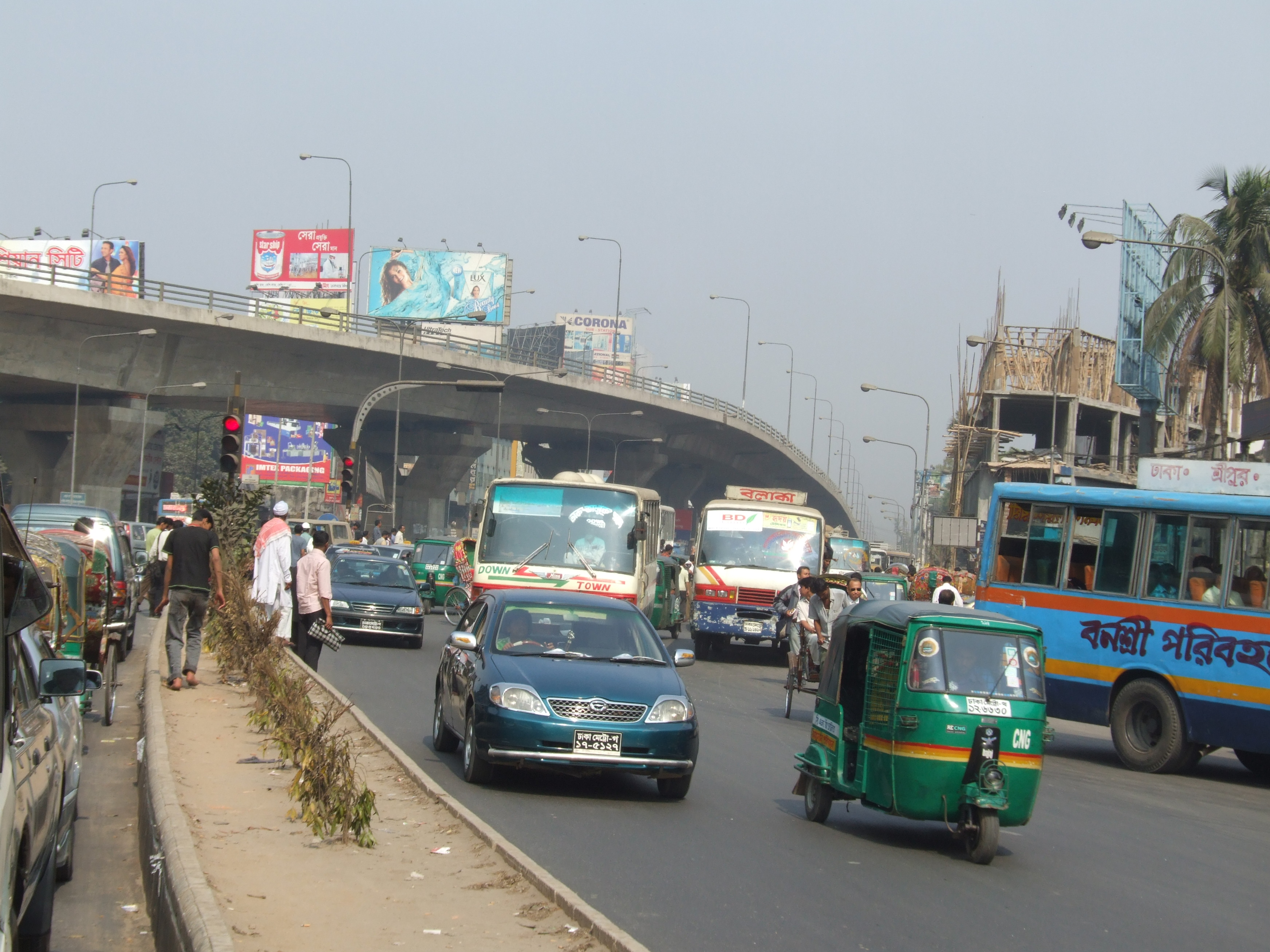 Dhaka Flyover Pictures Mohakhali Flyover in Dhaka