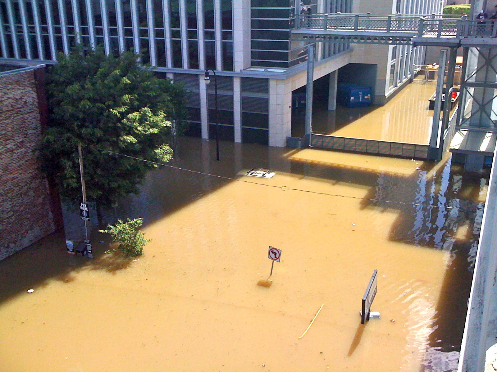 Nashville Flood of 2010 - Floodwaters in Downtown Nashville