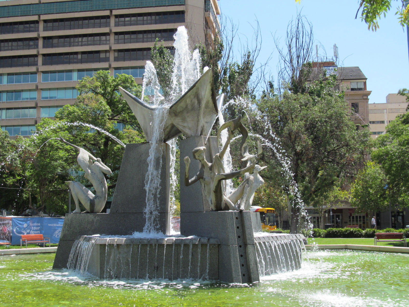 Water fountains adelaide - File Oic Victoria Square Fountain 2 Jpg