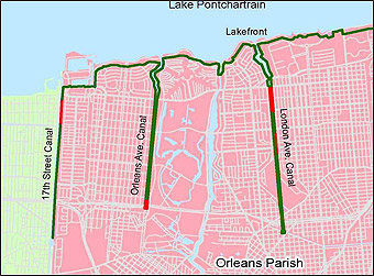 New Orleans Outfall Canals Wikipedia