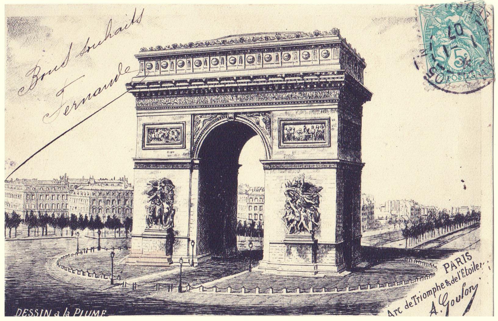 Fileparis Arc De Triomphe Et Place De Letoile 1907jpg