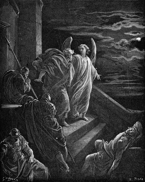 감옥에서 나온 베드로 (귀스타브 도래, Gustave Doré, 1865년)