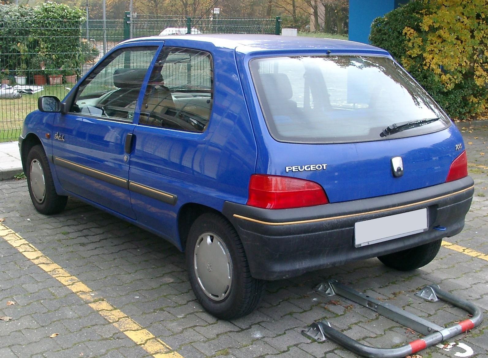 File:Peugeot 106 rear 20071031.jpg - Wikimedia Commons on