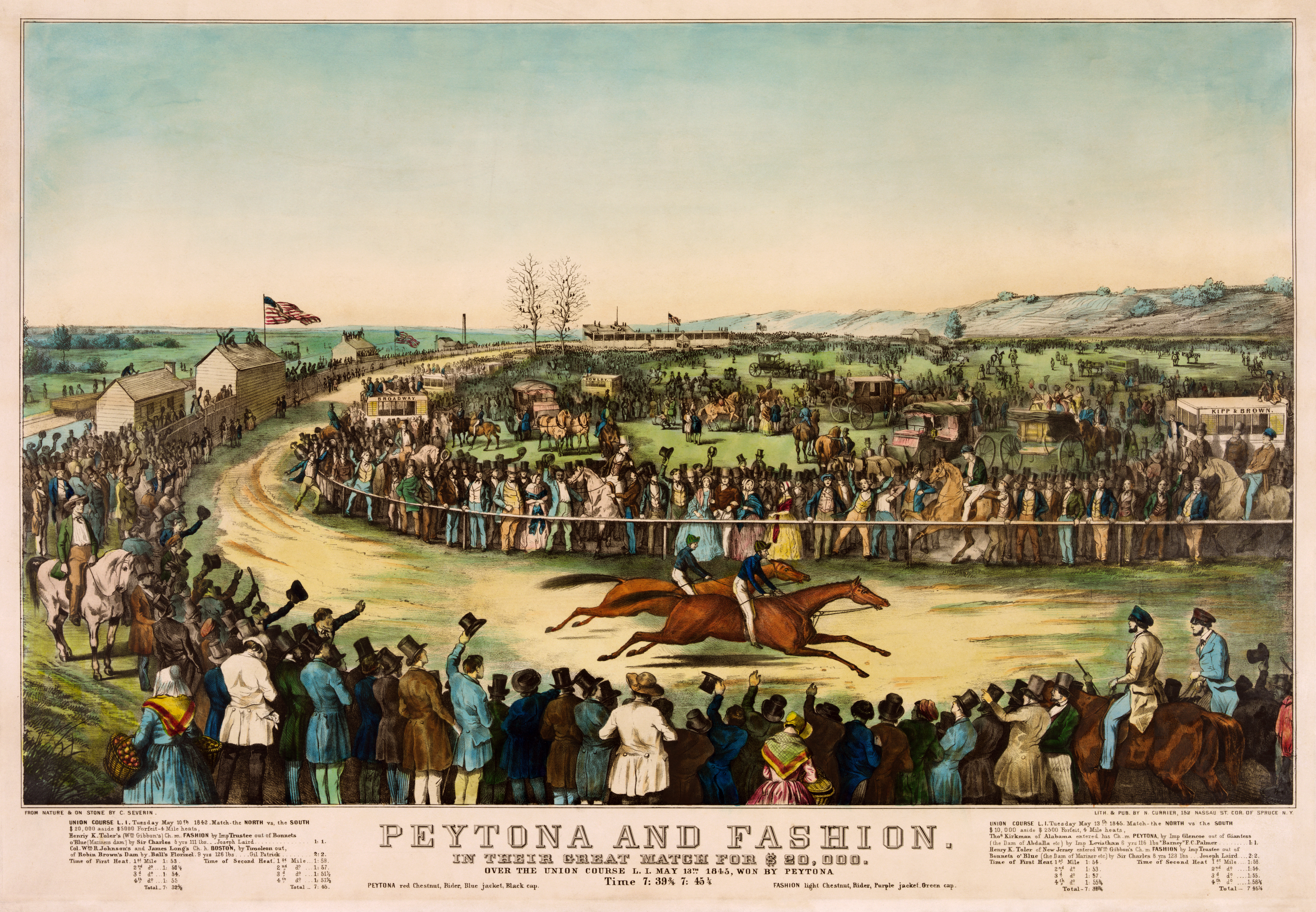 File:Peytona and Fashion in their great match for $20,000, 1845.jpg