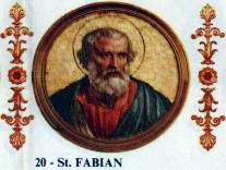Pope St Fabian the Martyr of Rome 236-250.jpg