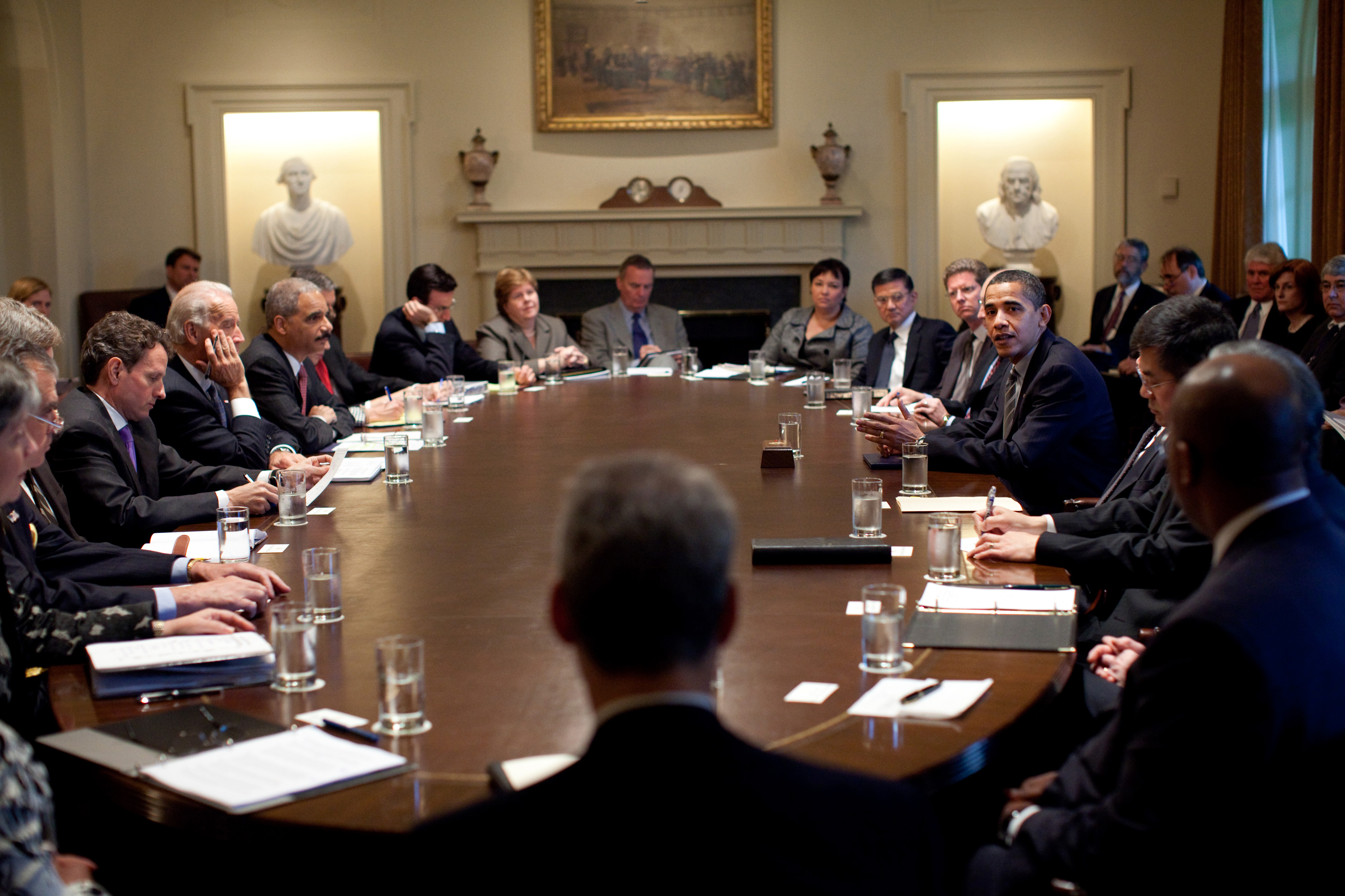 File:President Barack Obama meets with members of his Cabinet in ...