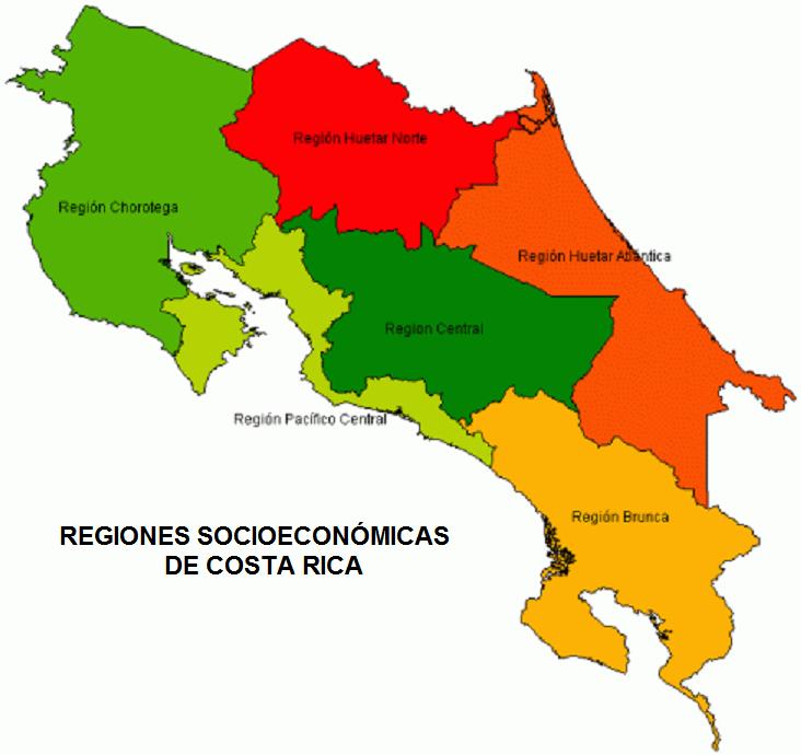 Regiones Socioeconómicas De Costa Rica Wikipedia La