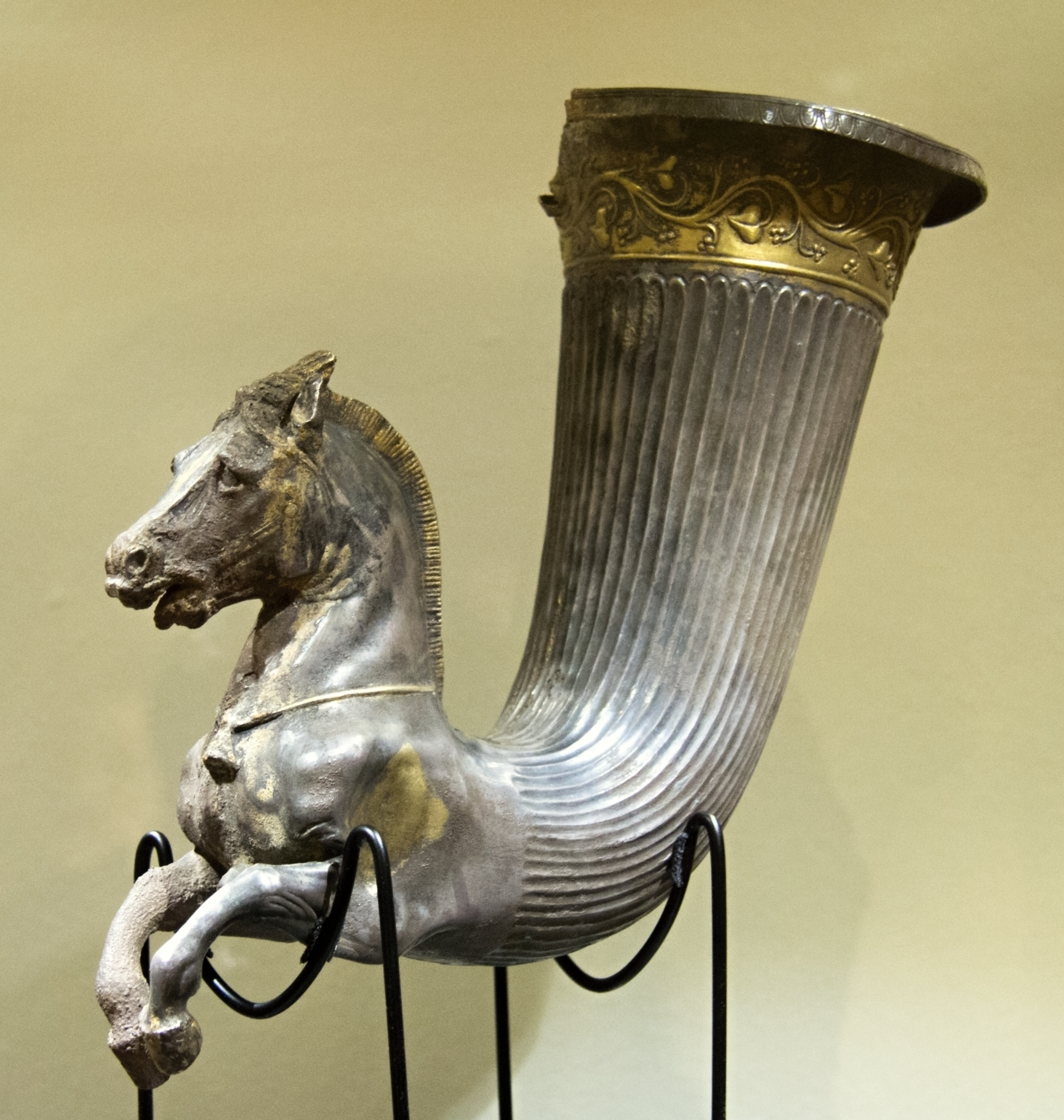 File Rhyton Greek Thracian Silver End Of 4th C Bc Prague