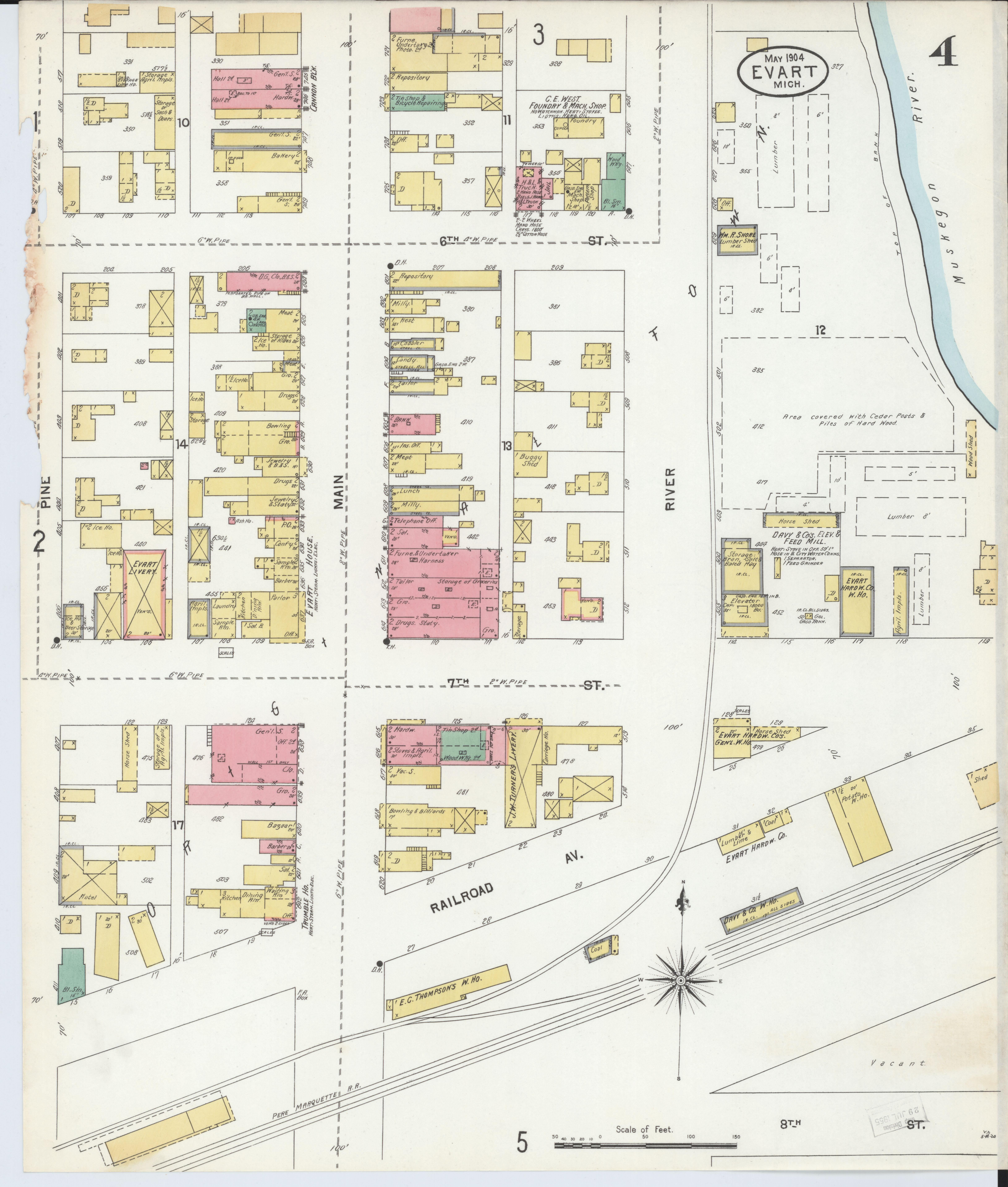 File Sanborn Fire Insurance Map From Evart Osceola County