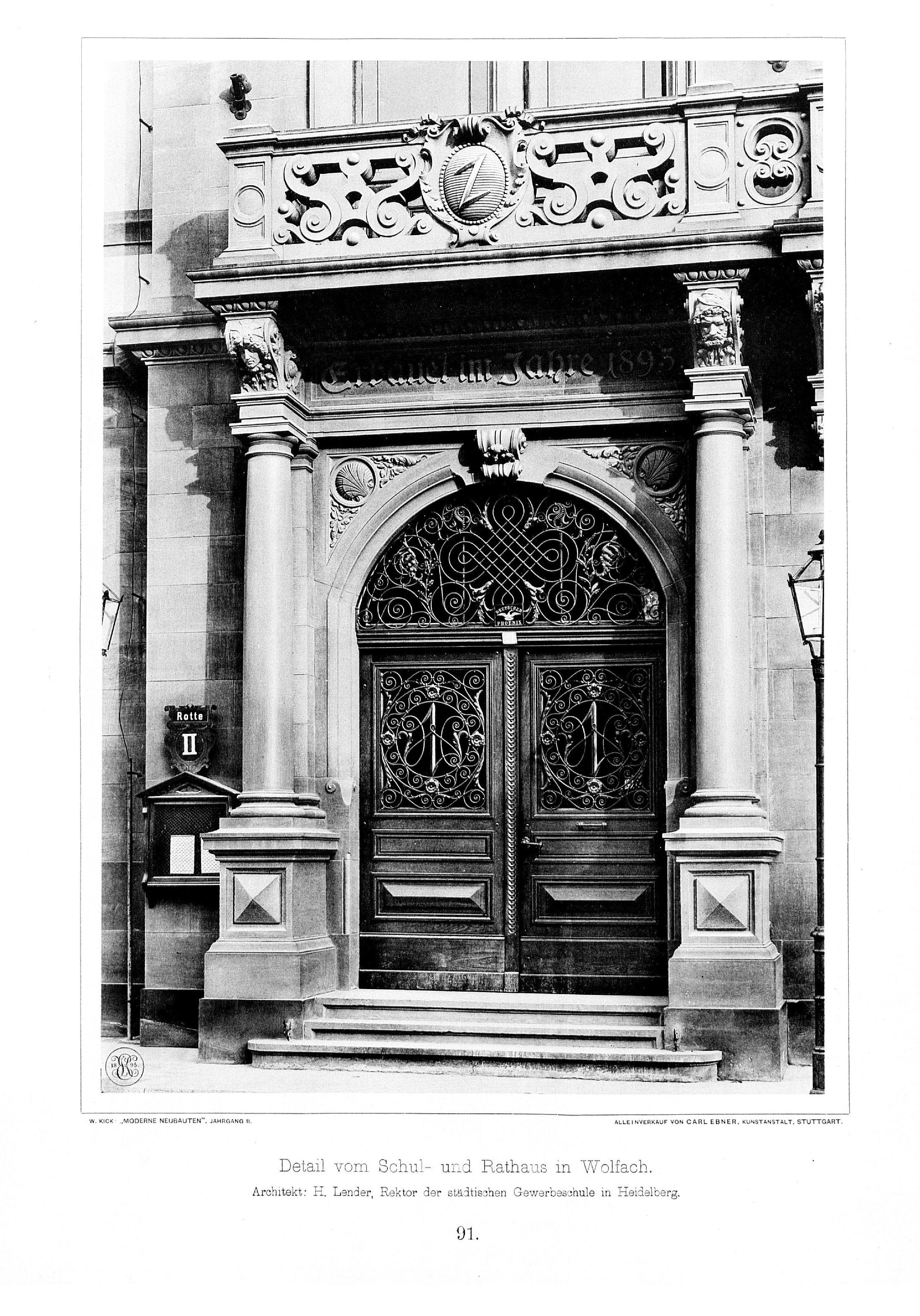 Architekt Heidelberg file schul und rathaus in wolfach baden architekt h lender