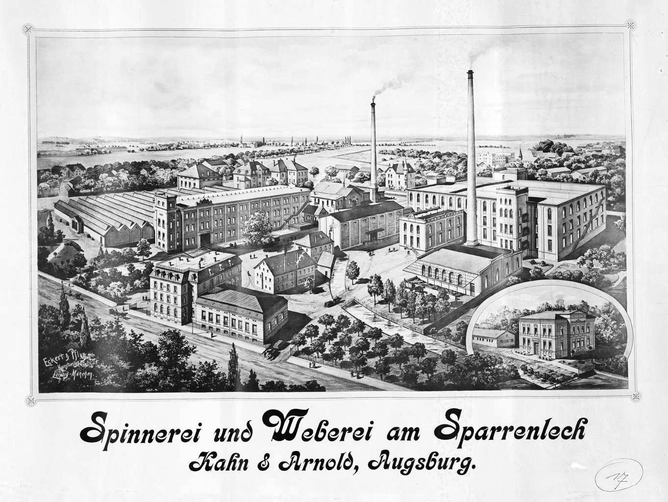 Gartenhaus Augsburg spinnerei und weberei am sparrenlech kahn & arnold – wikipedia