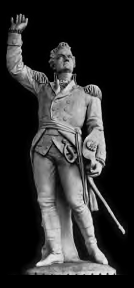 English: A statue of Ethan Allen, sculpted by ...