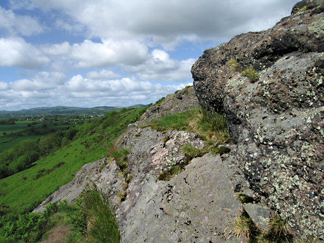 The rocks of Lyth Hill - geograph.org.uk - 1322743