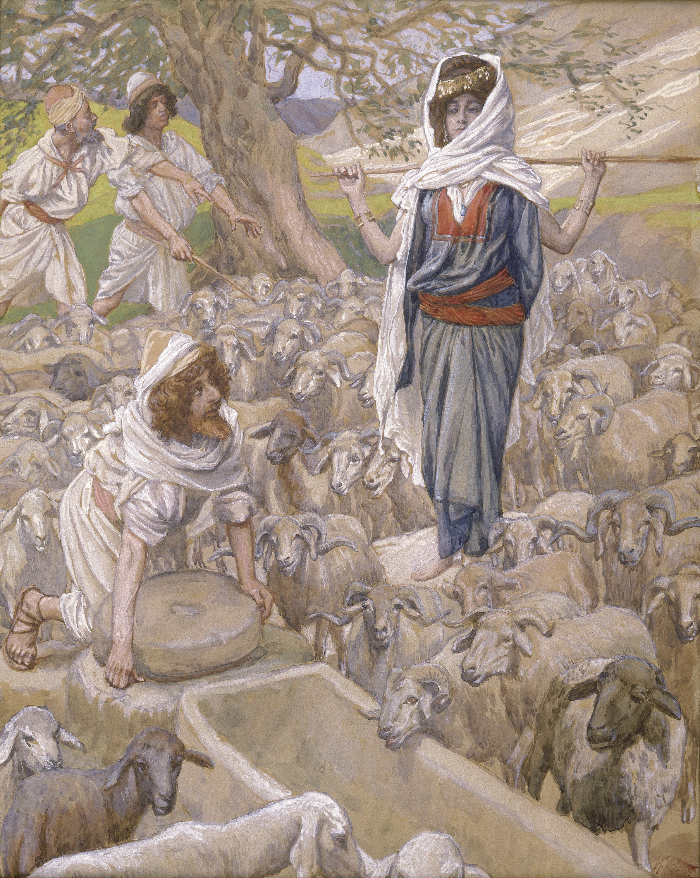 File:Tissot Jacob and Rachel at the Well.jpg